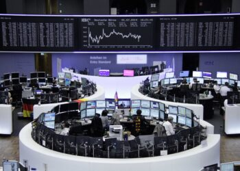 The German share price index DAX graph is pictured at the stock exchange in Frankfurt, Germany, November 3, 2020