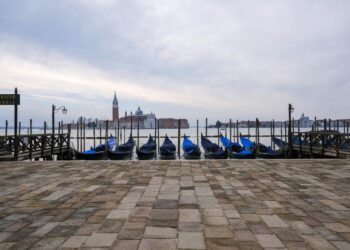 A view of the empty St. Mark's Basin as the region of Veneto becomes a 'red zone', going into lockdown in an effort to reduce coronavirus disease (COVID-19) infections in the country, in Venice, Italy, March 15, 2021.